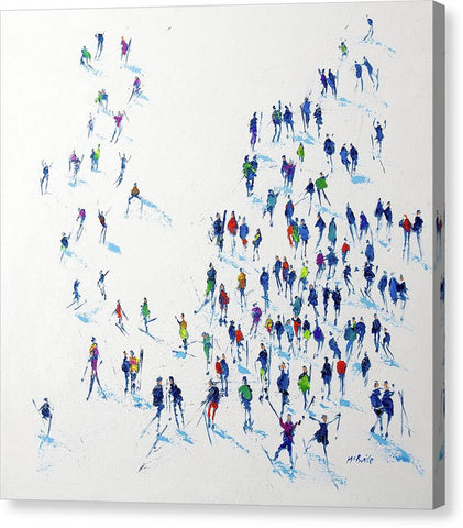 Skiing - Canvas Print