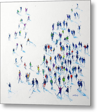 Skiing - Metal Prints