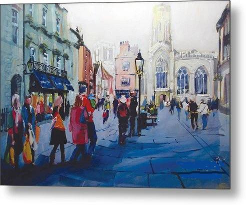 A view of St Helen's Square in York reproduced from an original artwork. Printed on aluminium metal © Neil McBride 2019