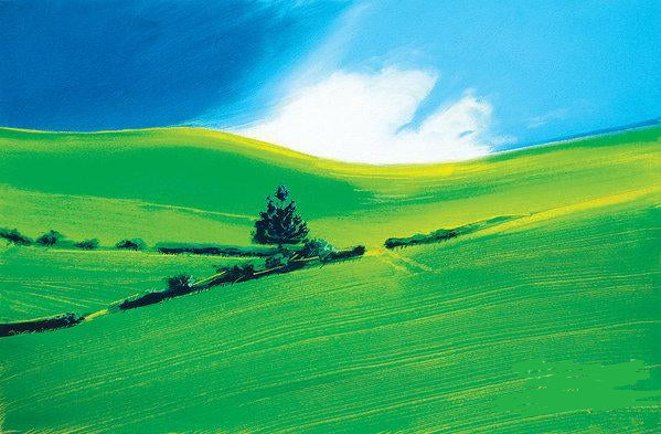 Paper Prints - Summer landscape in green and blue © Neil McBride 2019