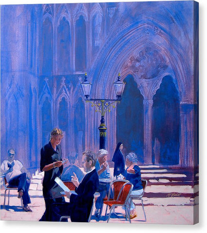 Tea At York Minster - Canvas Print