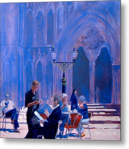 Tea At York Minster - Metal Print