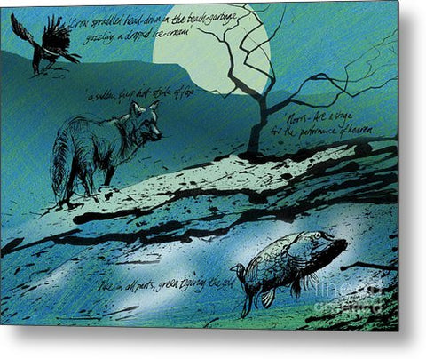 Ted Hughes Theatre Tribute - Metal Print