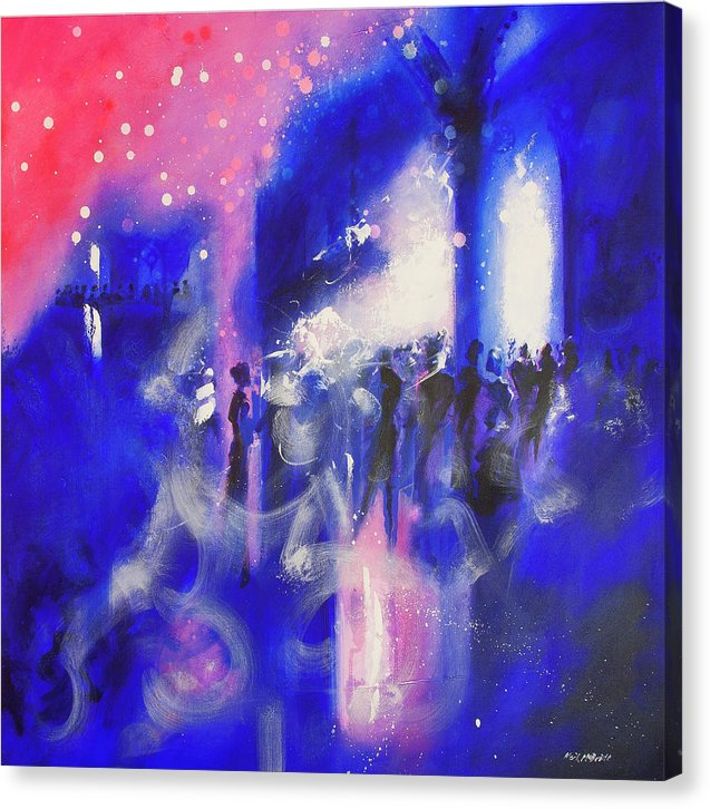 Party scene art on canvas prints © Neil McBride 2019