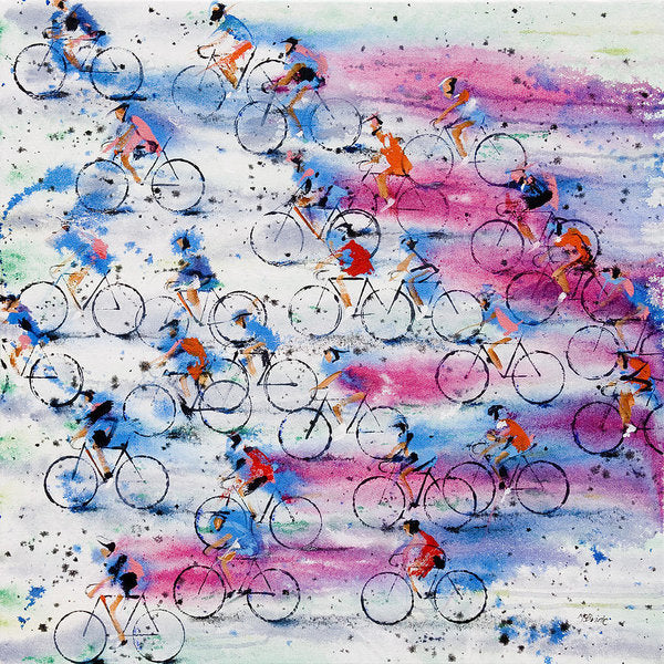 Giro D'italia - Cycling themed Art Print on paper - Neil McBride Art