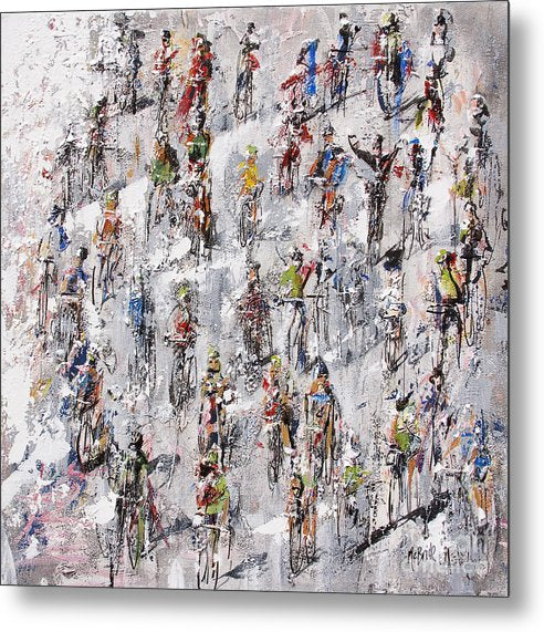 Tour De France Stage 2 print on metal