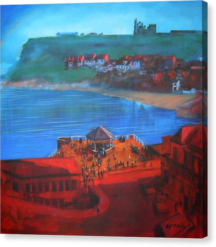 Whitby Bandstand And Smokehouses - Canvas Print