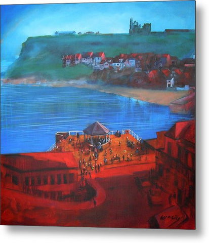 Whitby Bandstand And Smokehouses - Metal Print