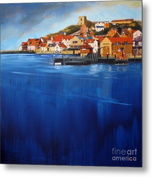Whitby High Tide - Metal Print © Neil McBride 2018