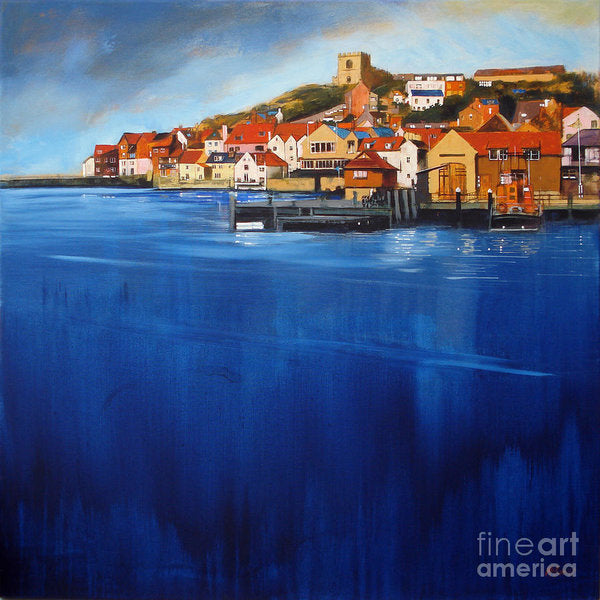 Whitby art prints like this one of Whitby harbour at high tide are very popular amongst art collectors © Neil McBride 2019