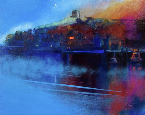 Whitby Moon and Mist - Paper prints