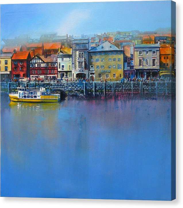 Whitby prints like this one of Saint Anne's Staith are for sale in three sizes of canvas by Neil McBride