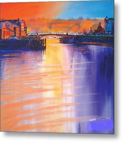 Whitby Swing Bridge - Metal Print
