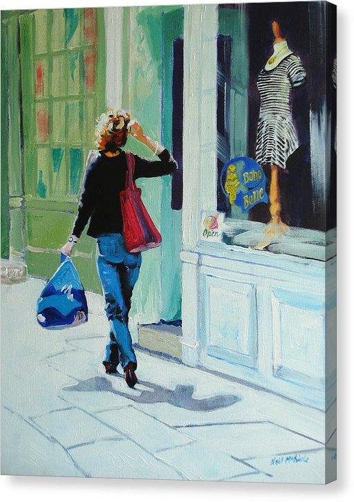 Window Shopping captured on these canvas prints by Neil McBride.