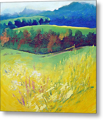 Yellow Meadow - Metal Print