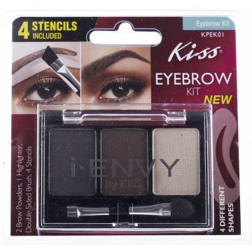 KISS I-Envy EyeBrow Kit with Stencils (KPEK01)
