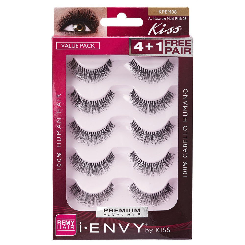 02ddf67e72f Kiss I.Envy 5 Pair Pack of Strip Lashes Au Naturale Multi-Pack 08 ...
