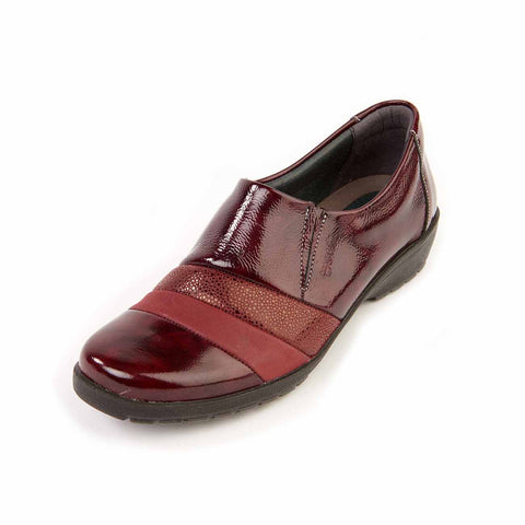 Jill - Burgundy/Patent Leather Shoe