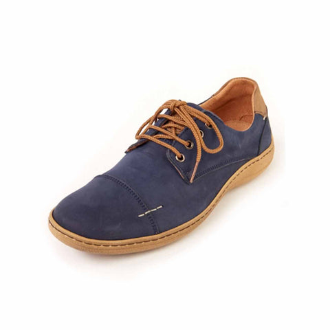 Harry - Navy Leather Shoe