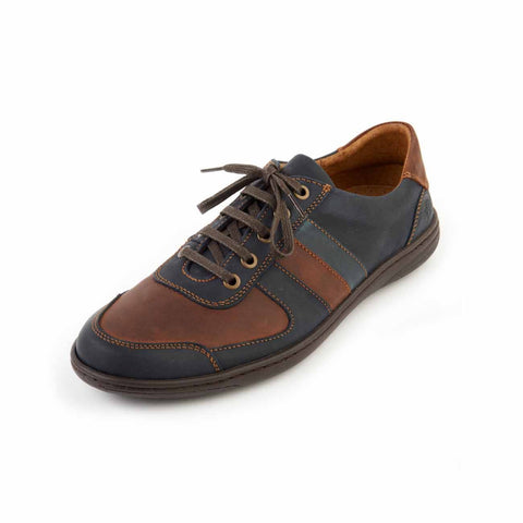 Edwin - Navy/Brown Leather Shoe