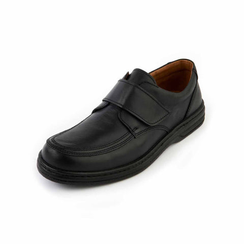 Angus - Black Leather Shoe