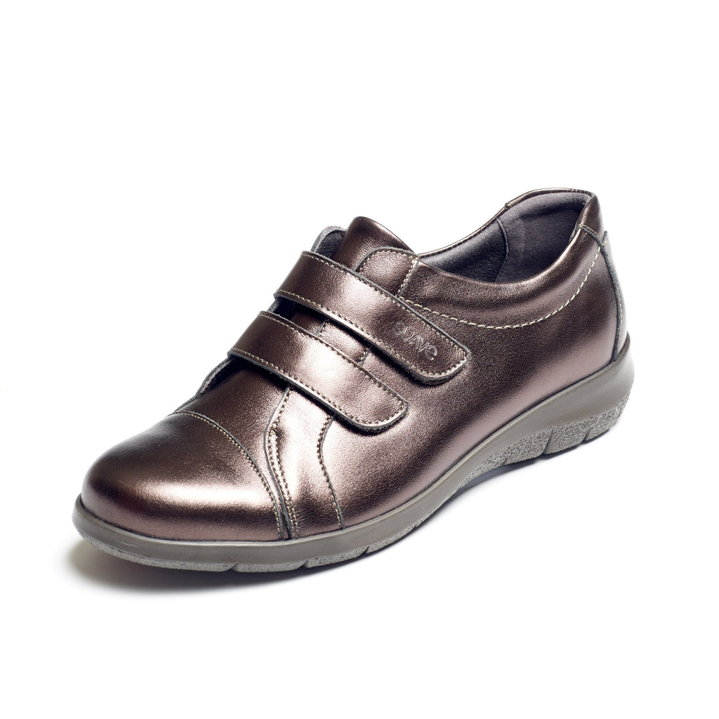 Louise - Nickel Leather Shoe