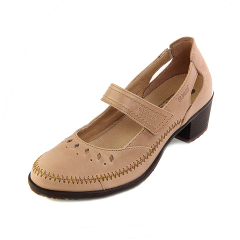Agnes - Beige Leather Shoe