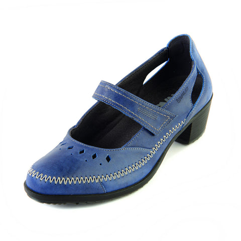 Agnes - Royal Blue Leather Shoe