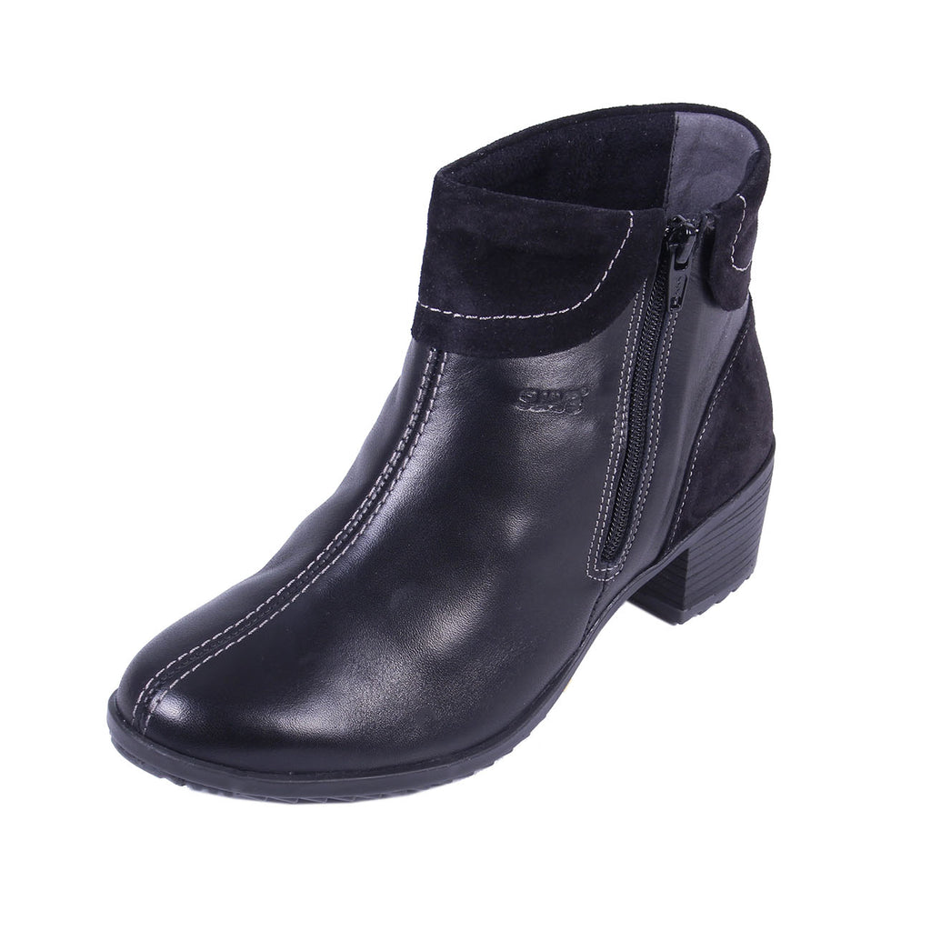 Alicia - Black / Suede Leather Boot