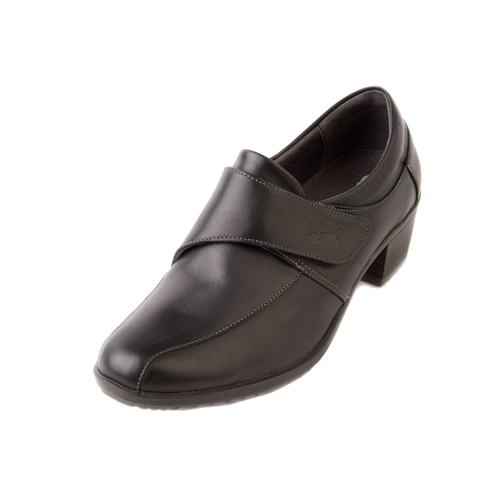 Alison - Black Leather Shoe