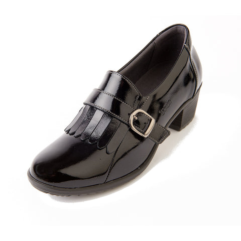 Anita - Black Patent Leather Shoe