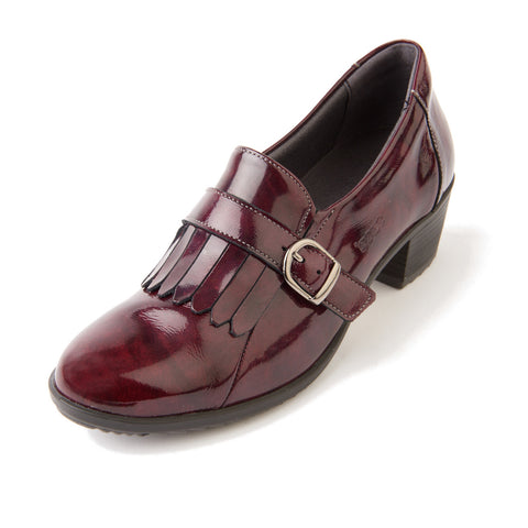 Anita - Burgundy Patent Leather Shoe