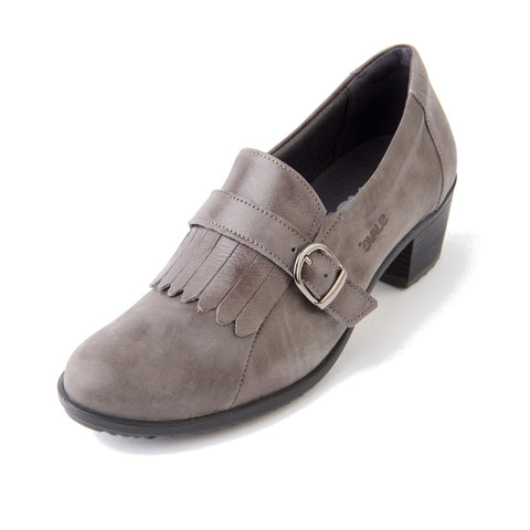 Anita - Grey Leather Shoe