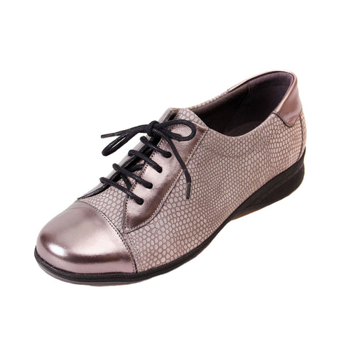 Becca - Snake/Gunmetal Leather Shoe