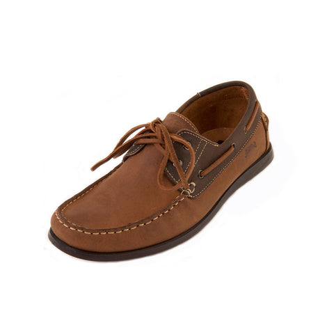Dave - Brown Leather Boat Shoe