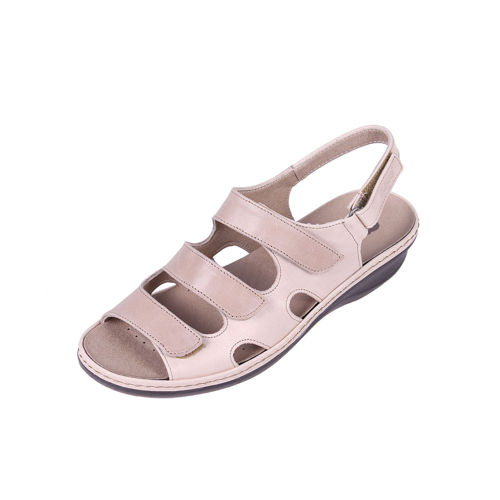 Hazel - Stone/Beige Leather Sandal