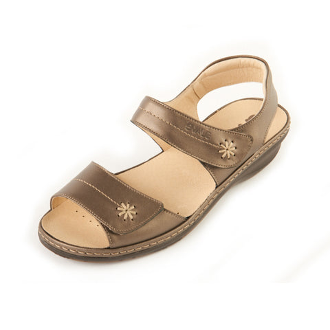 Heidi- Antique Gold Leather Sandal