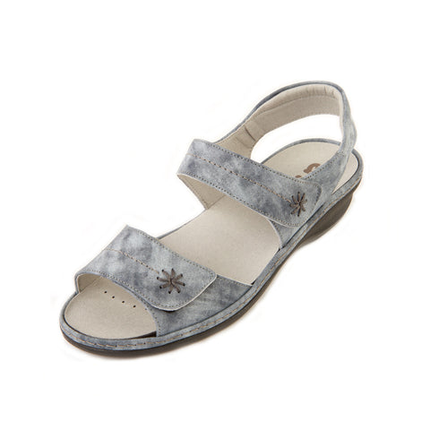Heidi - Blue Mist Leather Sandal