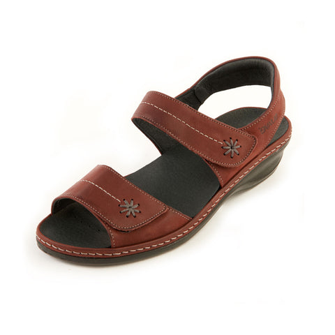 Heidi - Wine Leather Sandal