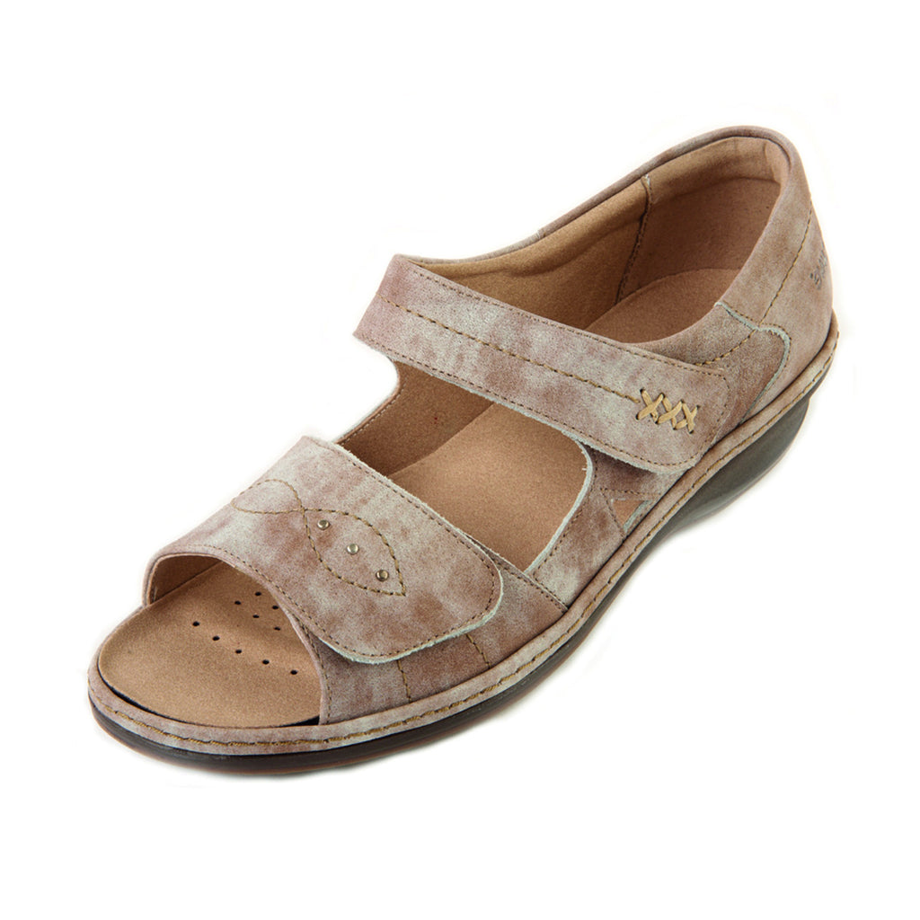 Hilda - Beige Mist Leather Sandal