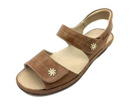 Heidi- Tan Leather Sandal