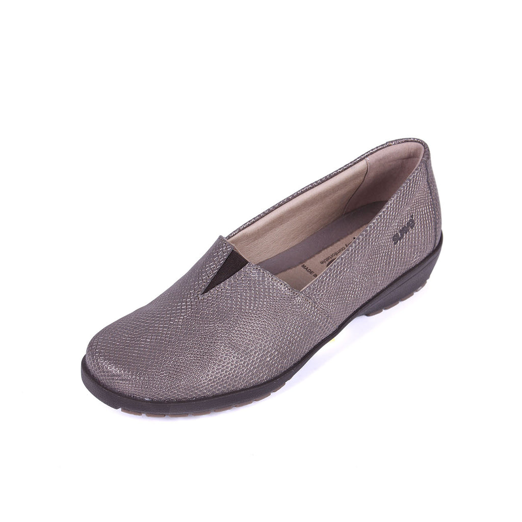 Jean - Gunmetal Leather Shoe