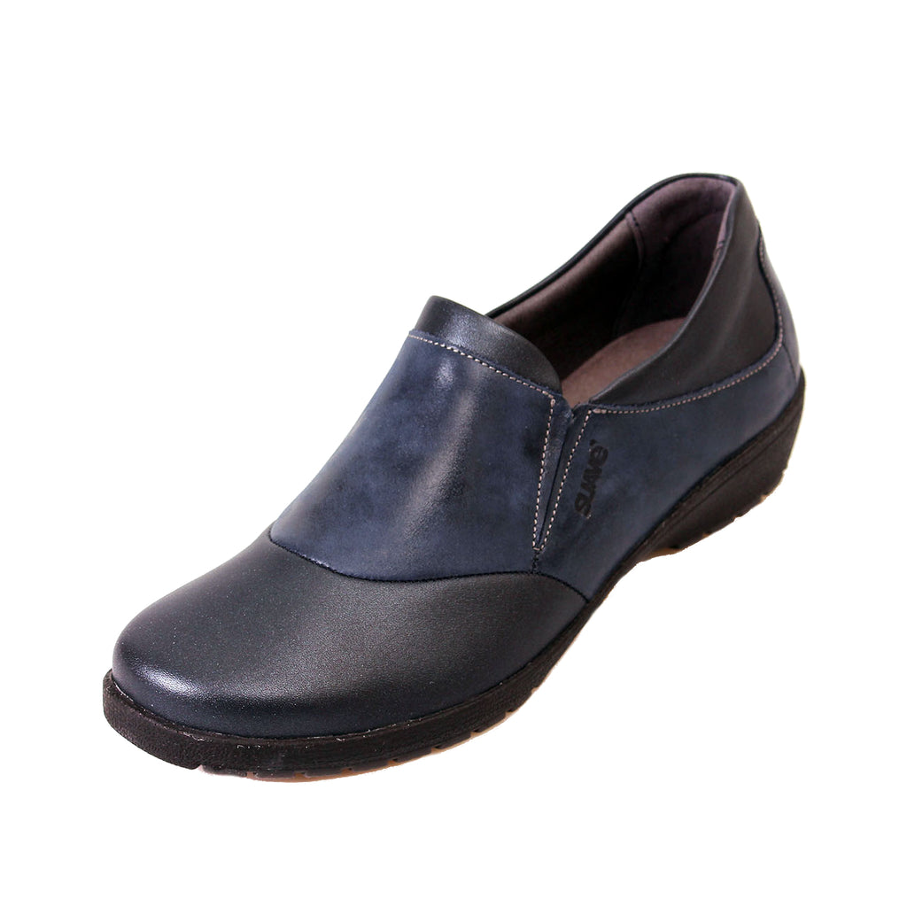 Jenna - Navy Leather Shoe