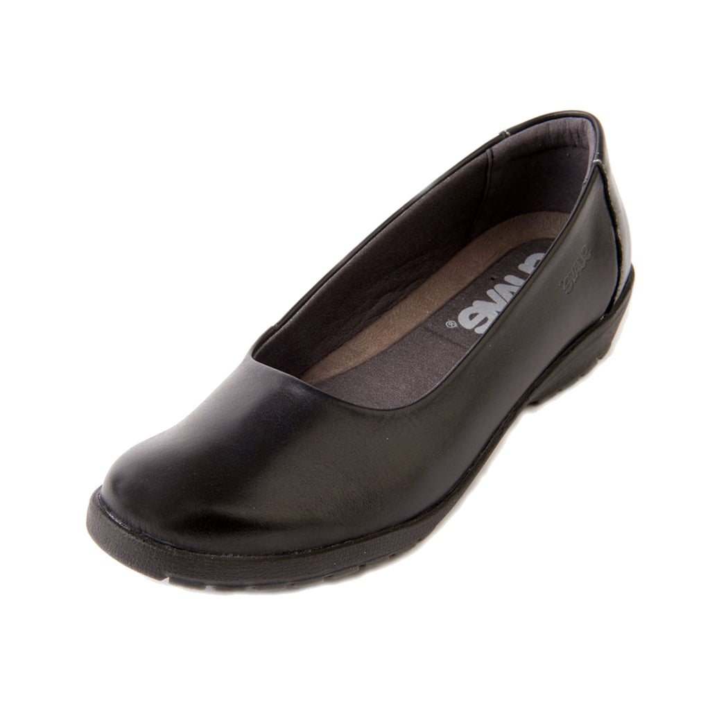 Jewel - Black Leather Shoe