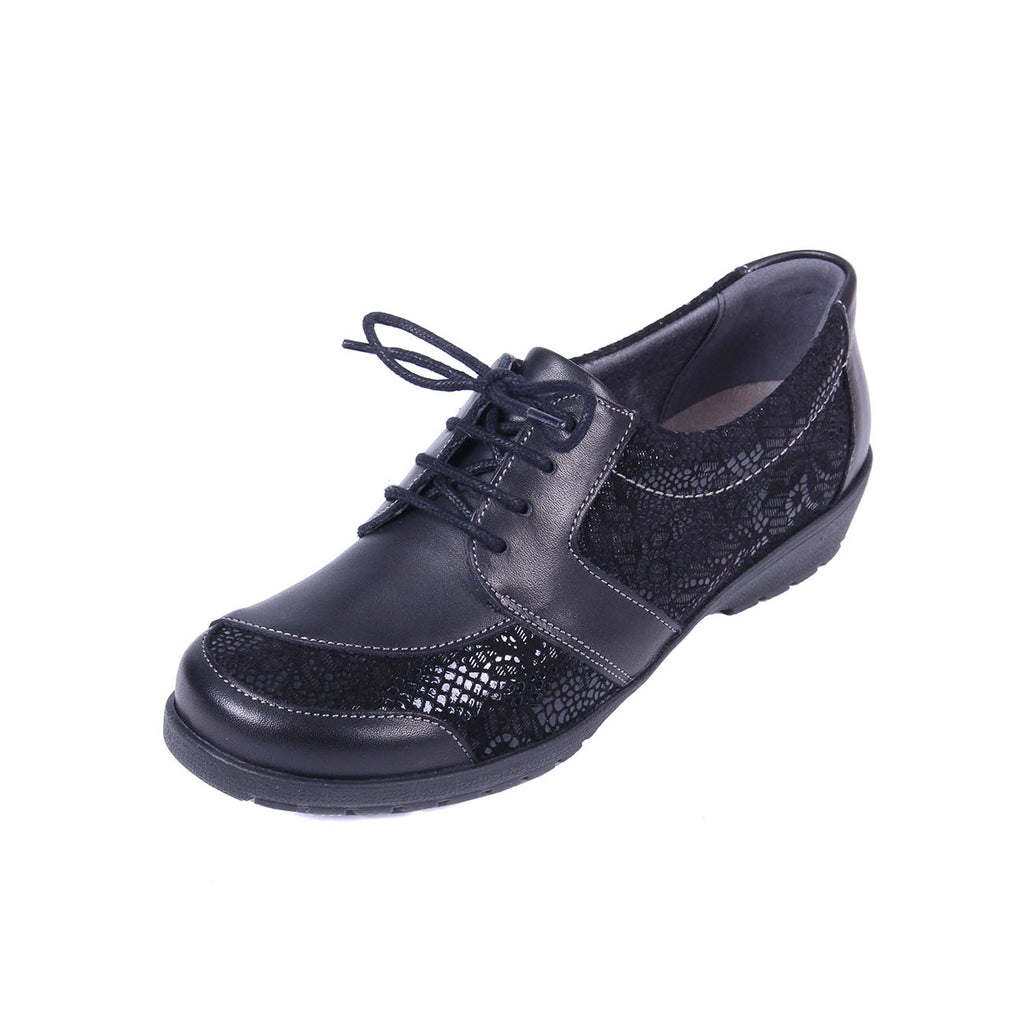 Josie - Black / Print Leather Shoe