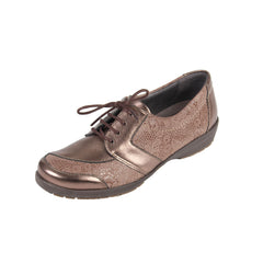 Josie - Bronze / Print Leather Shoe