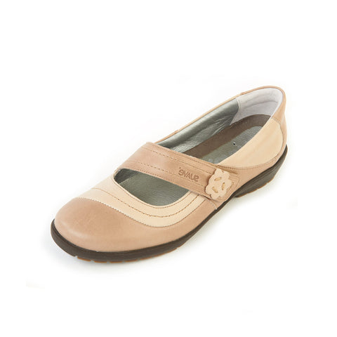 Joy - Stone/Beige Leather Shoe