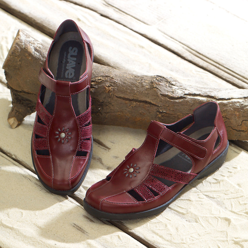 Judy - Cherry Leather Shoe