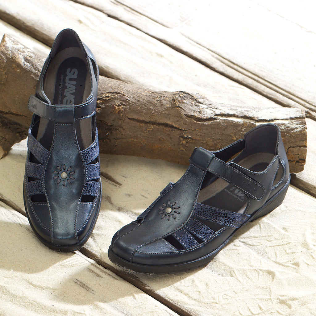 Judy - Navy Leather Shoe