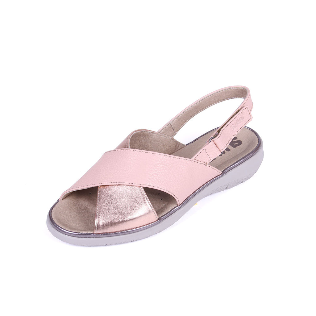 Katy - Salmon/Patent Leather Sandal